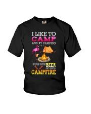 CAMPING BEER CAMFIRE Youth T-Shirt thumbnail