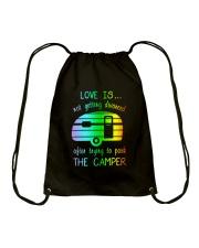 LOVE PARK CAMPER Drawstring Bag thumbnail