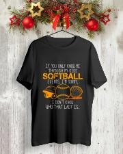 SOFTBALL LADY Classic T-Shirt lifestyle-holiday-crewneck-front-2