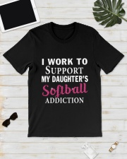 SOFTBALL ADDICTION Classic T-Shirt lifestyle-mens-crewneck-front-17