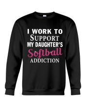 SOFTBALL ADDICTION Crewneck Sweatshirt thumbnail