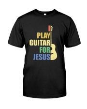 I PLAY FOR JESUS GUITAR Classic T-Shirt front