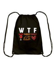 WINE TURKEY FAMILY Drawstring Bag thumbnail