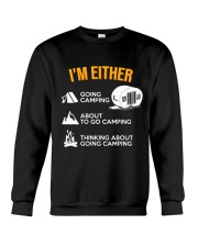 I EITHER CAMPING Crewneck Sweatshirt thumbnail