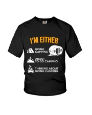 I EITHER CAMPING Youth T-Shirt thumbnail