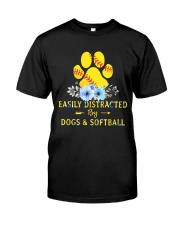 DOGS AND SOFTBALL Classic T-Shirt front