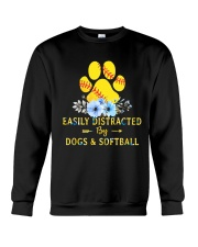 DOGS AND SOFTBALL Crewneck Sweatshirt thumbnail