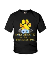DOGS AND SOFTBALL Youth T-Shirt thumbnail