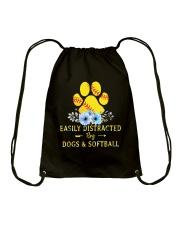 DOGS AND SOFTBALL Drawstring Bag thumbnail