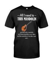 ALL I NEED MANDOLIN Classic T-Shirt front