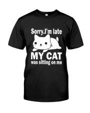 CAT SITTING ON ME Classic T-Shirt tile