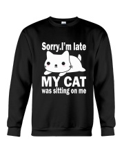 CAT SITTING ON ME Crewneck Sweatshirt tile