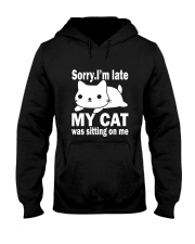 CAT SITTING ON ME Hooded Sweatshirt tile