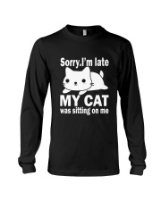 CAT SITTING ON ME Long Sleeve Tee tile