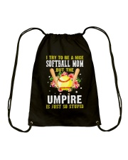 NICE SOFTBALL MOM Drawstring Bag thumbnail