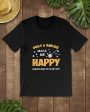 DOGS BANJOS HAPPY Classic T-Shirt lifestyle-mens-crewneck-front-18