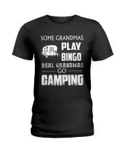 REAL GRANDMAS GO CAMPING Ladies T-Shirt front