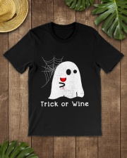 TRICK OR WINE Classic T-Shirt lifestyle-mens-crewneck-front-18
