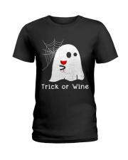 TRICK OR WINE Ladies T-Shirt tile