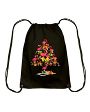 FLAMINGO TREE CHRISTMAS Drawstring Bag thumbnail