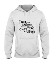 CATS ARE ALLERGIC Hooded Sweatshirt thumbnail