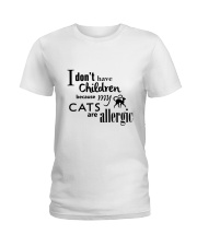 CATS ARE ALLERGIC Ladies T-Shirt thumbnail