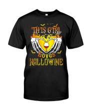 WINE GIRL HALLOWEEN Classic T-Shirt front