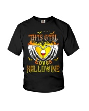 WINE GIRL HALLOWEEN Youth T-Shirt thumbnail