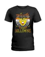 WINE GIRL HALLOWEEN Ladies T-Shirt thumbnail