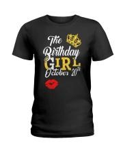 OCTOBER BIRTHDAY GIRL Ladies T-Shirt thumbnail