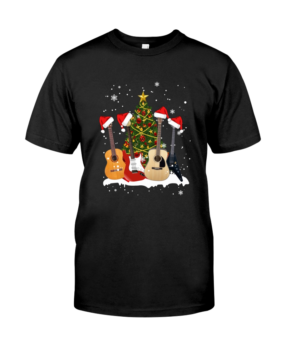 TREE CHRISTMAS GUITAR Classic T-Shirt