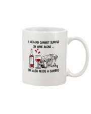 CAMPING WINE ALONE Mug thumbnail