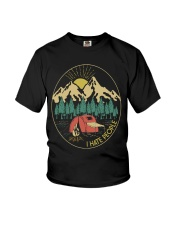 CAMPING I HATE PEOPLE  Youth T-Shirt thumbnail