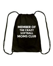 SOFTBALL MOMS CLUB Drawstring Bag thumbnail