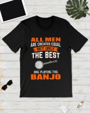 THE BEST PLAYING BANJO Classic T-Shirt lifestyle-mens-crewneck-front-17