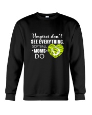 SOFTBALL MOMS DO BLACK Crewneck Sweatshirt thumbnail