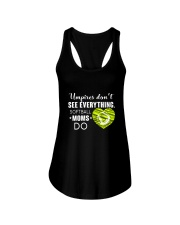 SOFTBALL MOMS DO BLACK Ladies Flowy Tank thumbnail