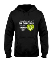 SOFTBALL MOMS DO BLACK Hooded Sweatshirt thumbnail