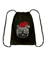 CAT HAT CHRISTMAS Drawstring Bag thumbnail