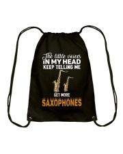 TELLING ME SAXOPHONE Drawstring Bag thumbnail