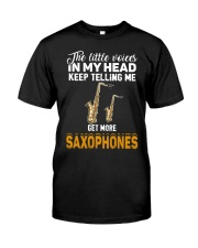 TELLING ME SAXOPHONE Classic T-Shirt front