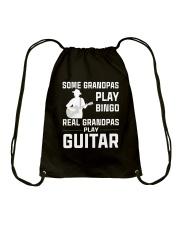 REAL GRANDPAS PLAY GUITAR Drawstring Bag thumbnail