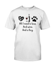 WINE DOG Classic T-Shirt front