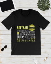 SOFTBALL MOM CAN'T CONTROL Classic T-Shirt lifestyle-mens-crewneck-front-17