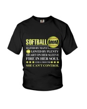 SOFTBALL MOM CAN'T CONTROL Youth T-Shirt thumbnail