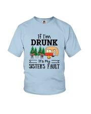 CAMPING MY SISTER FAULT Youth T-Shirt thumbnail