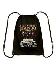 JUST KIDDING BANJO Drawstring Bag thumbnail