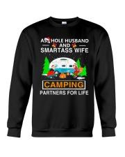 SMARTASS WIFE CAMPING Crewneck Sweatshirt thumbnail