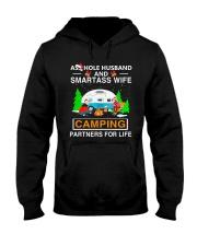 SMARTASS WIFE CAMPING Hooded Sweatshirt thumbnail