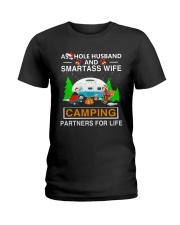 SMARTASS WIFE CAMPING Ladies T-Shirt thumbnail